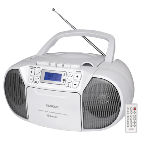 Sencor prijenosni radio SPT 3907 W  Bluetooth /CD/ MP3/SD/USB/AUX