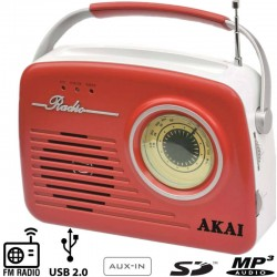 Akai retro radio APR-11R/B red